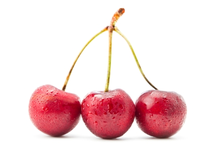 Three Cherries in a cluster