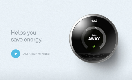 A screencap from the Nest website